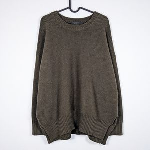 Knot Sisters Chunky Knit Sweater Green Size M